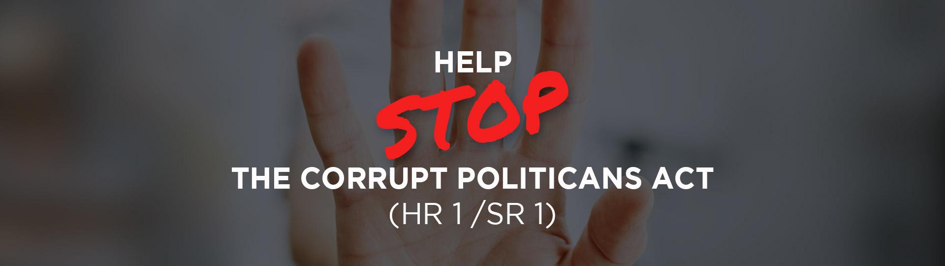 Stop the Corrupt Politicians Act