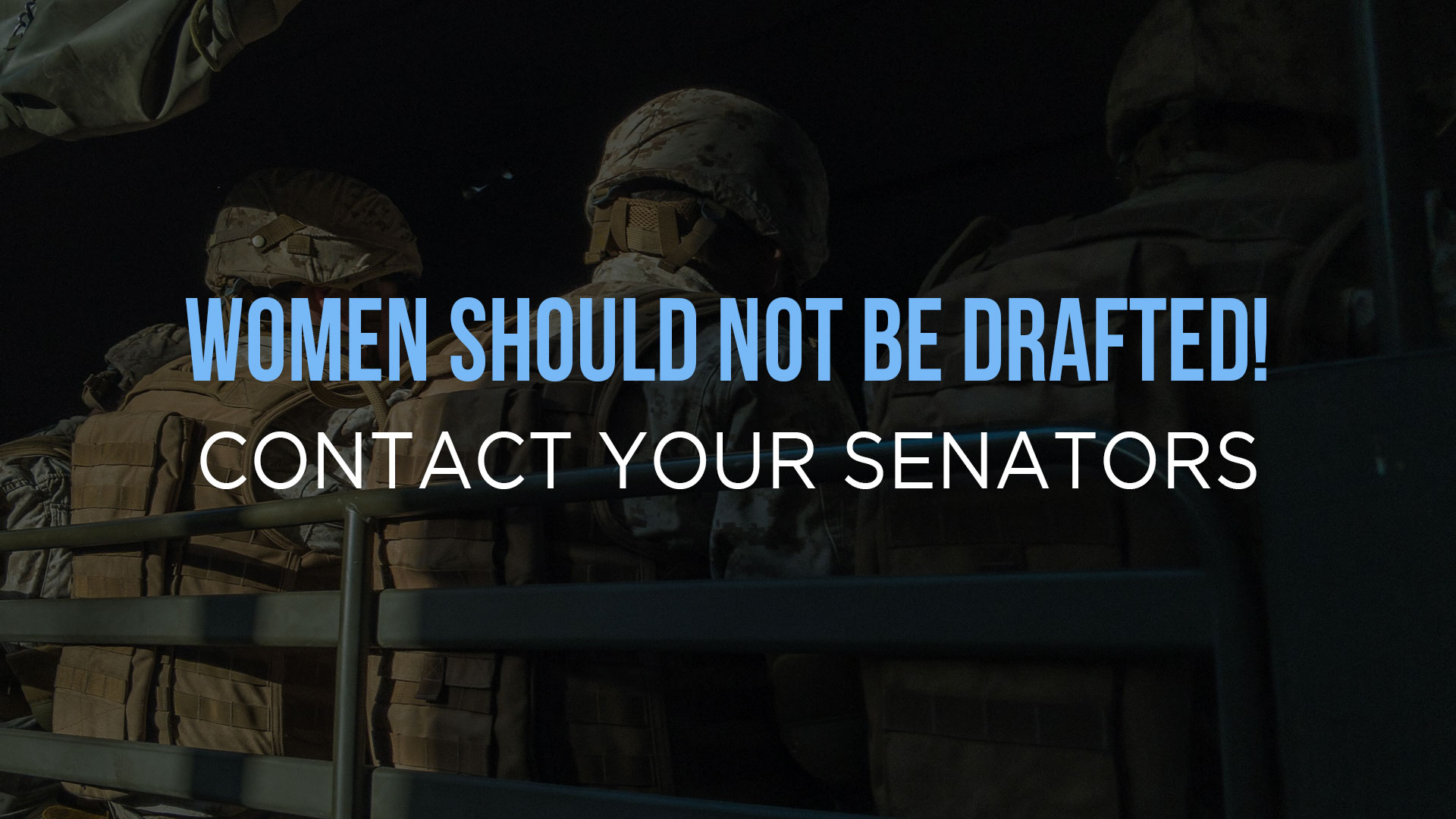 Women Should Not Be Drafted